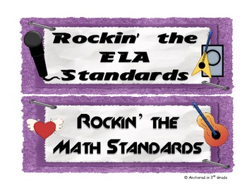 CC Rock Star ELA and Math Headers