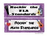 CC Rock Star ELA and Math Headers