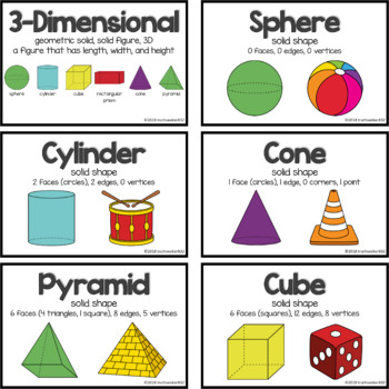 Illustrated Math Vocabulary Cards – Geometry