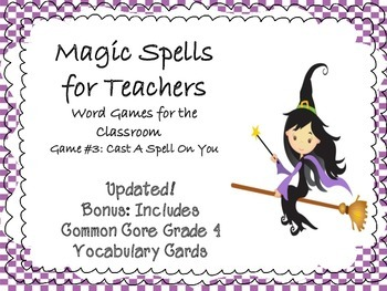 CC Vocabulary & Spelling Word Game  Magic Word #3 Cast a S