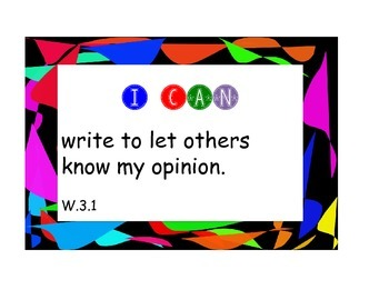 """Common Core Writing """"I Can Posters"""" (Picazo)"""