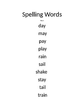 CCC Collaborative Literacy Second grade spelling words