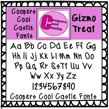 CCC Coopers Cool Castle Fonts (Gizmo Treat)