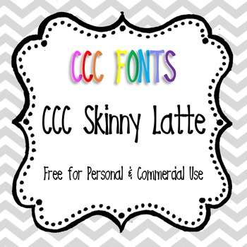 CCC Skinny Latte Font Freebie