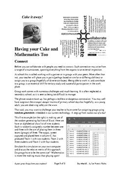 CCCC Having your Cake and Mathematics Too