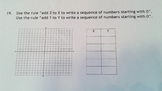 CCSS.5.OA.B.3 Generate two numerical patterns using two given rules.