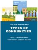 CCCS Main Idea Test Prep - Types of Communities