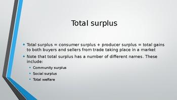 CIE A Level Economics Consumer Surplus and Producer Surplus PPTs 24 Slides