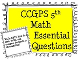 CCGPS  5th Grade MATH Essential Questions Posters