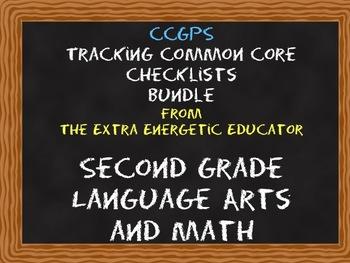 CCGPS Bundle: Tracking Common Core 2nd Grade Language Arts & Math Checklists