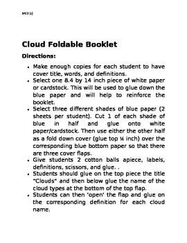 CCGPS Cloud Foldable Organizer