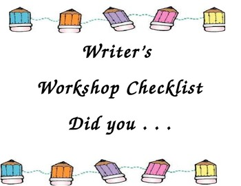 CCGPS Did you....Writer's Checklist