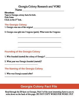 CCGPS Georgia Colony Research and Voki