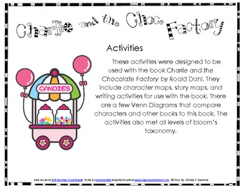 CCGPS Lang Arts Activities 1st Grade Charlie & the Chocolate Factory Acitivities