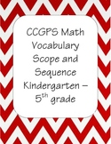 CCGPS Math Vocabulary Scope and Sequence