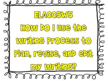 CCGPS Writing Essential Questions 5th grade