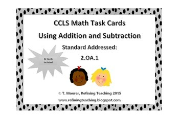 CCLS Math Task Cards 2.OA.1