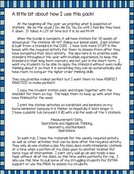 CCRS Aligned Math Station Pack