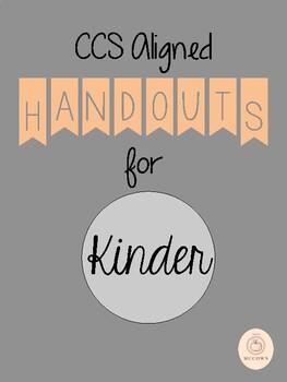 CCS Aligned Handouts for Kinder