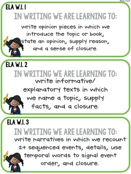 CCS Aligned: Objective Cards [FIRST GRADE]