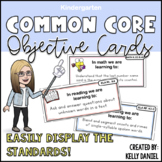 CCS Aligned: Objective Cards [KINDERGARTEN]