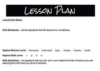 CCS Lesson Plan Template