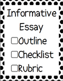 CCSS Aligned Informative Essay Outline and Guide