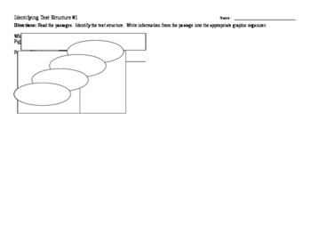 CCSS 1.4.6 - Identifying Text Structures Assignment and Graphic Organizers