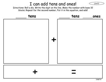 CCSS 1.NBT.4; Adding Tens