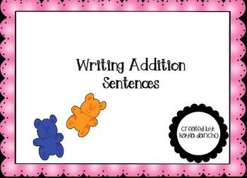CCSS 1.OA.1 Writing Addition Sentences