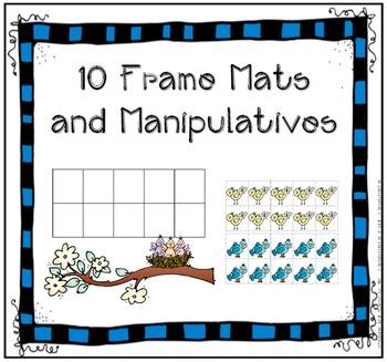 Ten Frames and Manipulatives- Printable Mats for All Seasons (10 Frame)