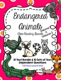 CCSS 10 Text Bundle: Endangered Animals Vol. 1 & 2 + Questions
