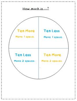 CCSS 1.NBT.5 Ten More or Ten Less Game