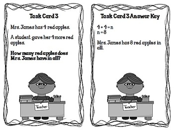 Back to School Word Problems for Firsties CCSS 1.OA.1