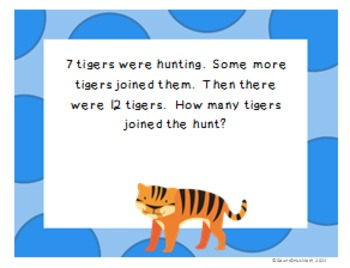 CCSS 1.OA.1 Word Problems (Zoo)  Set B