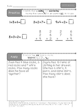 CCSS 1.OA.A.2 Practice and AssessPack