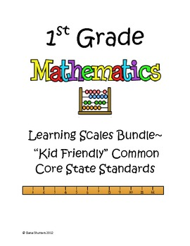 CCSS 1st grade Math Learning Scales Bundle