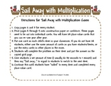 CCSS 2 Digit by 1 Digit and 3 Digit by 1 Digit Multiplication Scoot Game