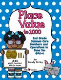 CCSS 2.NBT.A.1-4 & B.1-2:Place Value to 1000-PRINTABLES & TPT DIGITAL ACTIVITIES