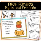 FACT FAMILIES, RELATING ADDITION SUBTRACTION, ACTIVITIES,  WORKSHEETS
