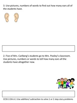 CCSS 2.OA.A.1 Story Problems