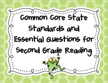 CCSS 2nd Grade Reading and Math Bundle- Frog and Ladybug Themed