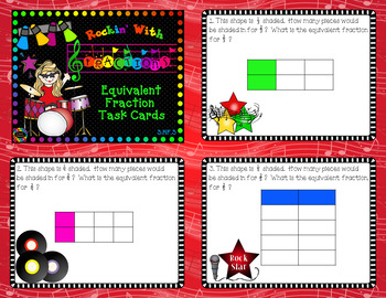 CCSS 3.NF.3 Equivalent Fraction Task Cards