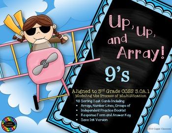 CCSS 3.OA.1 Multiplication, Arrays, Equal Groups, Task Car