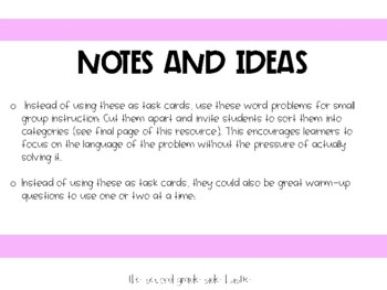 CCSS 3.OA.3 3.OA.4 Multiplication and Division Task Cards