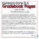 3rd Grade ELA Common Core Gradebook Pages **EDITABLE**