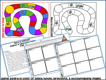 CCSS 4.NBT.4: Race to One Million--An Addition and Subtraction Game
