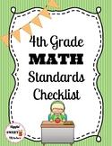 4th Grade Math Standards Checklist (Common Core)