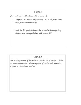 CCSS 4th Grade Math Warm Ups