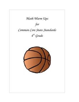 CCSS 4th Grade Math Warm Ups